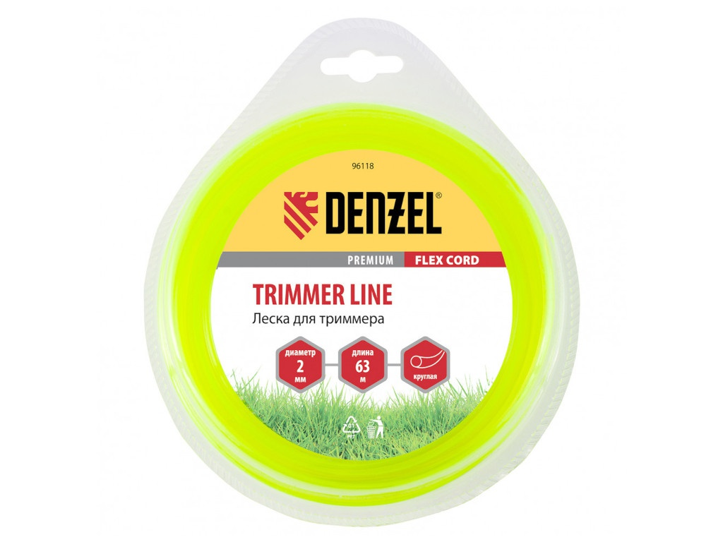 Леска для триммера Denzel Flex Cord 2mm x 63m 96118