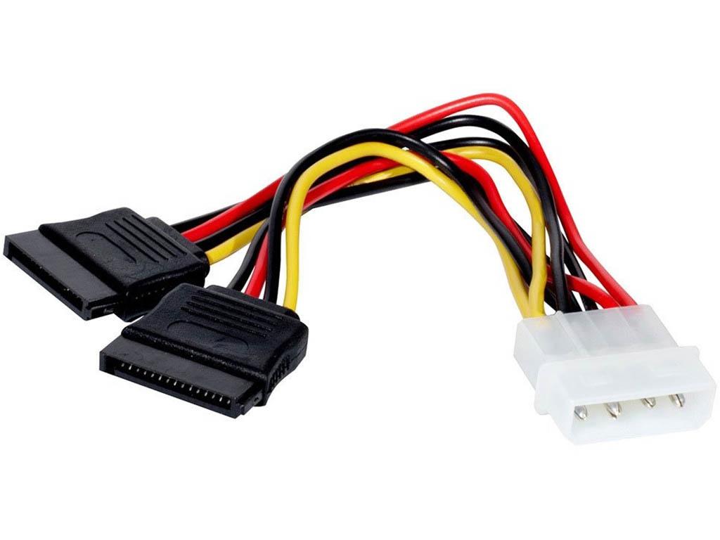 Аксессуар ATcom Molex to 2xSata 0.20m AT8605