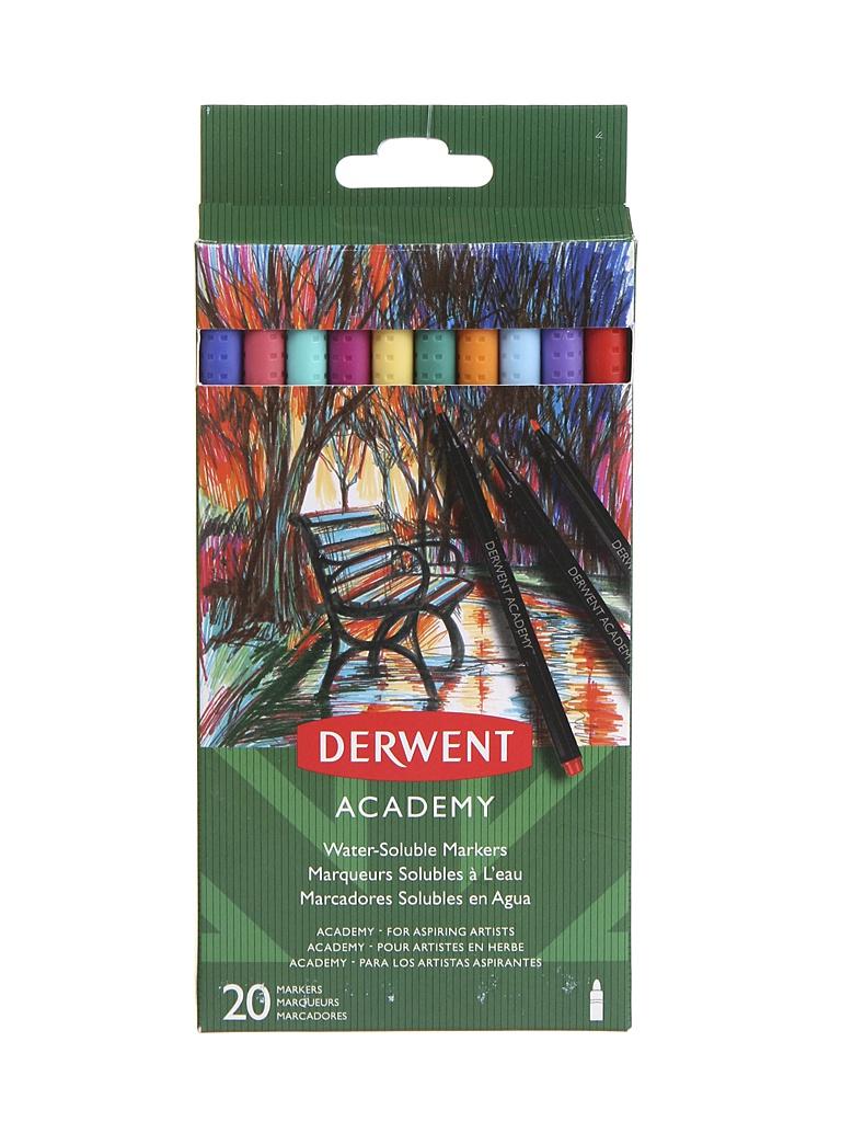 Фломастеры Derwent Academy 20 цветов 98202