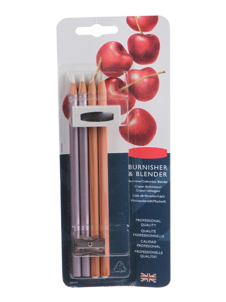 Набор карандашей для смешивания цветов и полировки Derwent 4 цвета 2301774