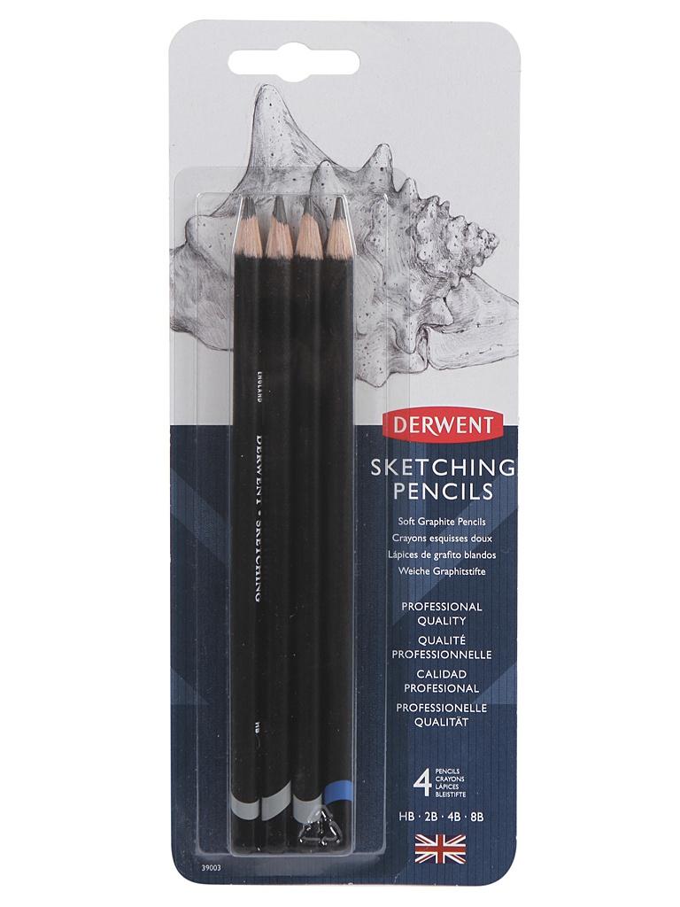 Набор чернографитных карандашей Derwent Sketching 4шт 39003