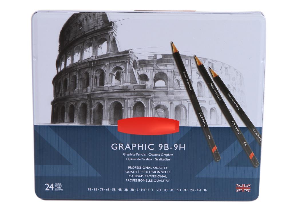 Набор чернографитных карандашей Derwent Graphic 24шт 34202