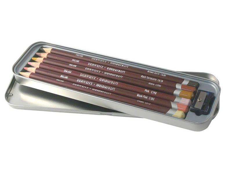 Карандаши цветные Derwent Coloursoft 6 цветов 2300217 derwent цветные карандаши drawing 12 цветов 0700671