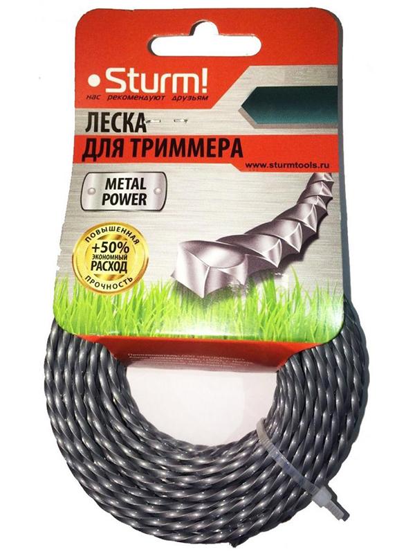 Леска для триммера Sturm! 3mm x 15m GT3535-3.0-S-15