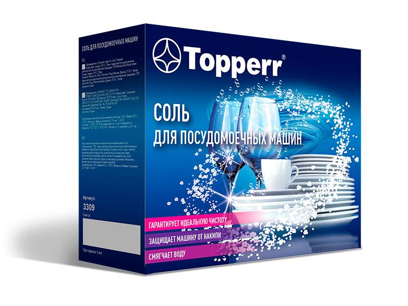 Соль регенерирующая для посудомоечных машин Topperr 1.5kg 3309