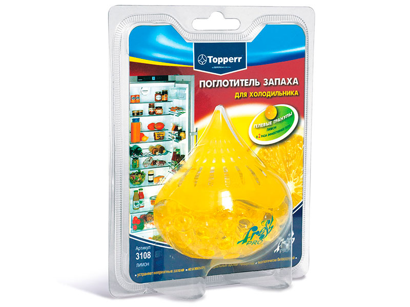 Поглотитель запаха для холодильника Topperr Лимон 3108