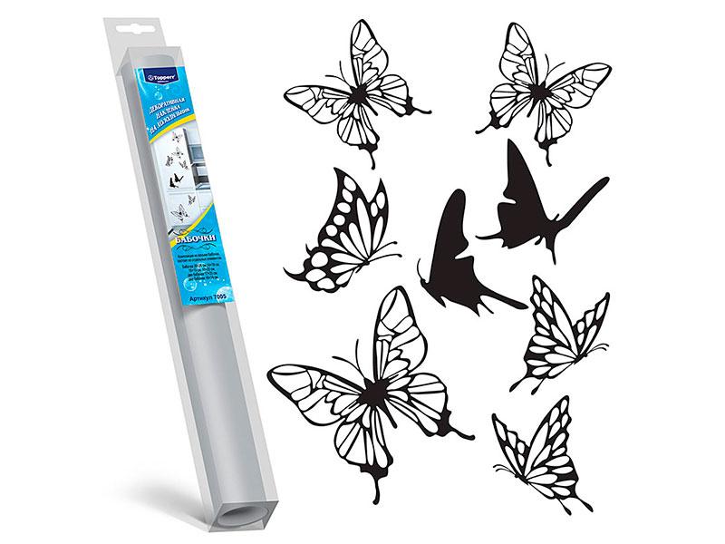 цена на Декоративная наклейка на холодильник Topperr Бабочки 7005