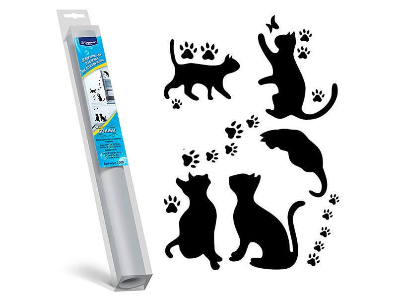 Декоративная наклейка на холодильник Topperr Кошки 7008
