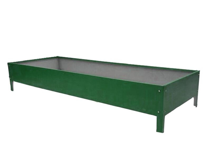 Грядка Комфорт на даче Урожайная оцинкованная с полимерным покрытием 1x3m x 19cm Green 00108z