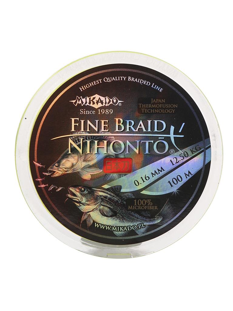 Леска Mikado Nihonto Fine Braid 0.16mm 100m Fluo Z30F-016