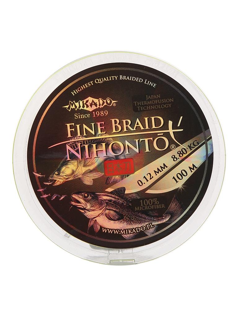Леска Mikado Nihonto Fine Braid 0.12mm 100m Fluo Z30F-012