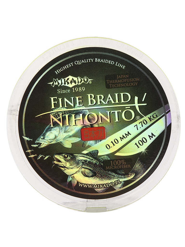 Леска Mikado Nihonto Fine Braid 0.10mm 100m Fluo Z30F-010