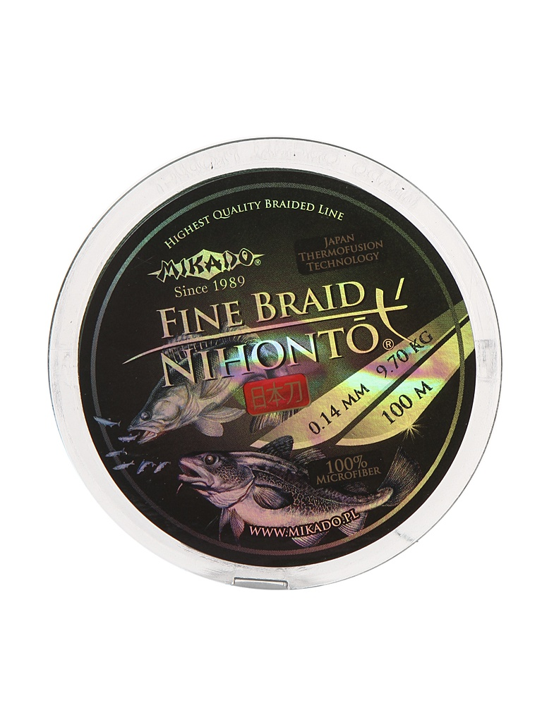 Леска Mikado Nihonto Fine Braid 0.14mm 100m Green Z30G-014