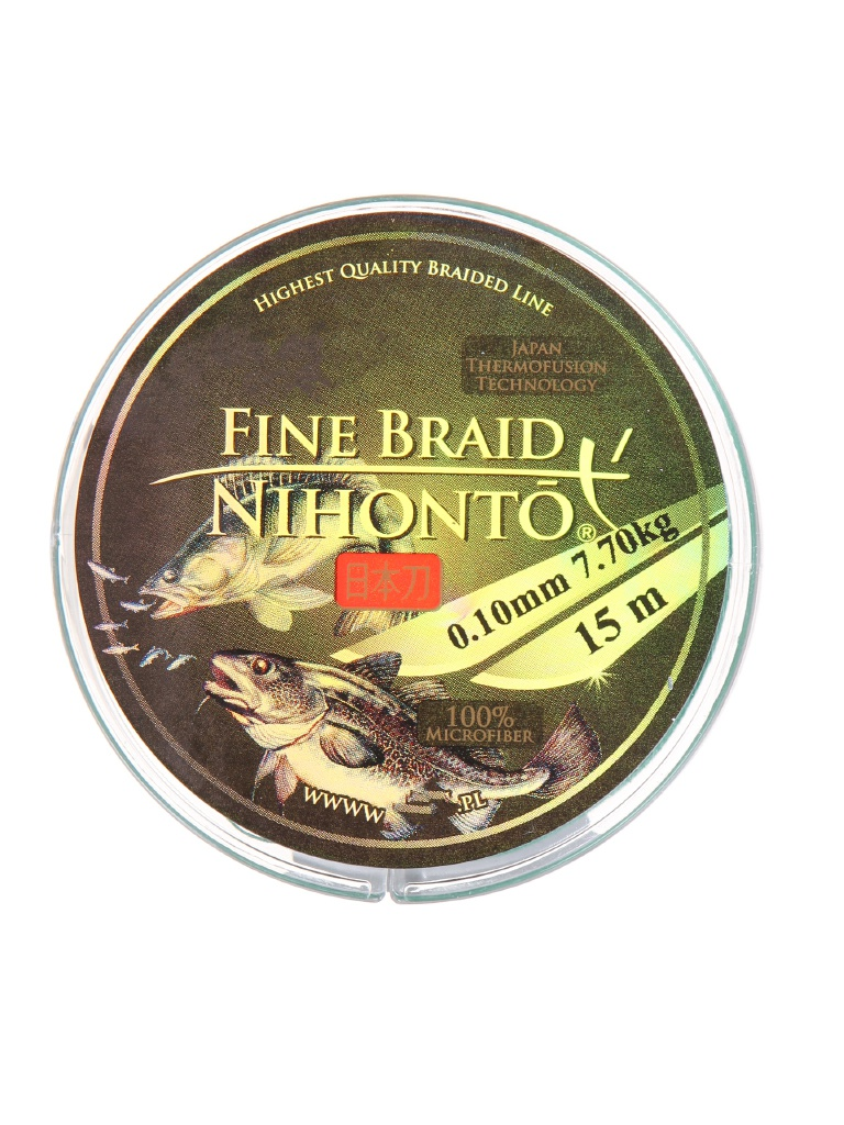 Леска Mikado Nihonto Fine Braid 0.10mm 15m Green Z21G-010
