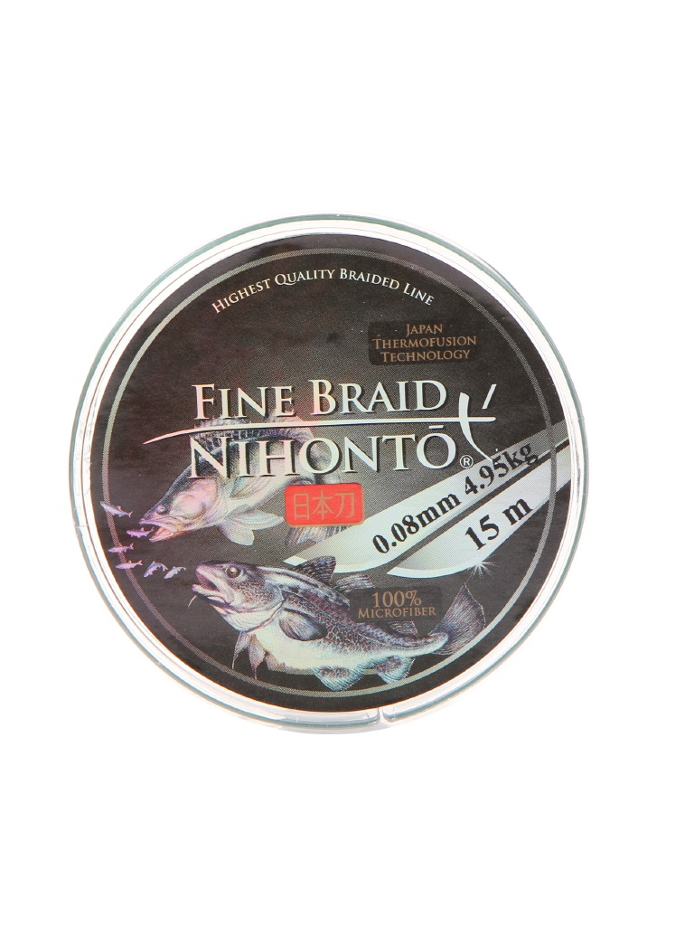 Леска Mikado Nihonto Fine Braid 0.08mm 15m Green Z21G-008