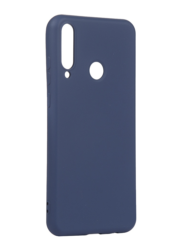 Чехол с микрофиброй DF для Huawei Y6p Silicone Blue hwOriginal-15