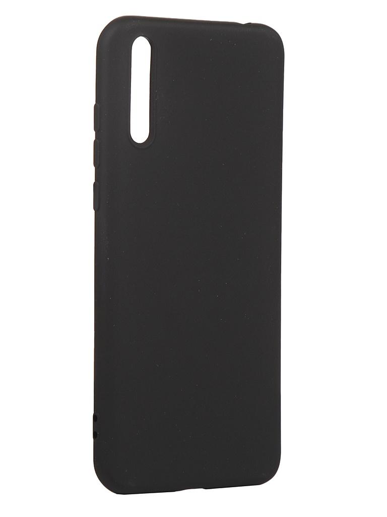 Чехол с микрофиброй DF для Huawei Y8p Silicone Black hwOriginal-16