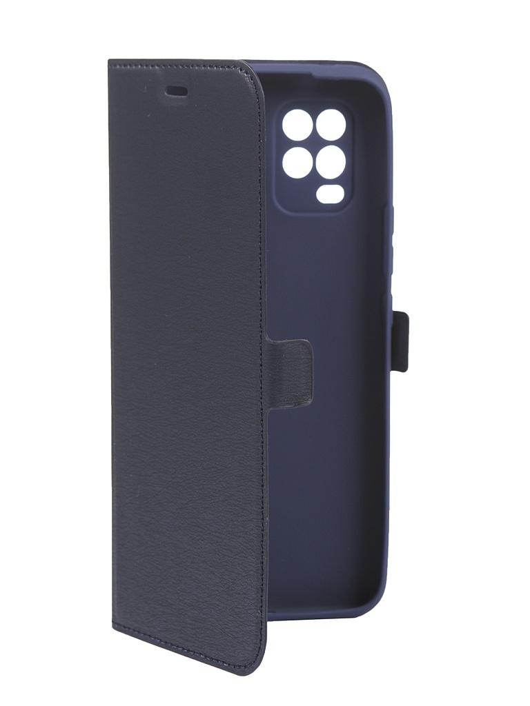 Чехол DF для Xiaomi Mi Note 10 Lite Blue xiFlip-59
