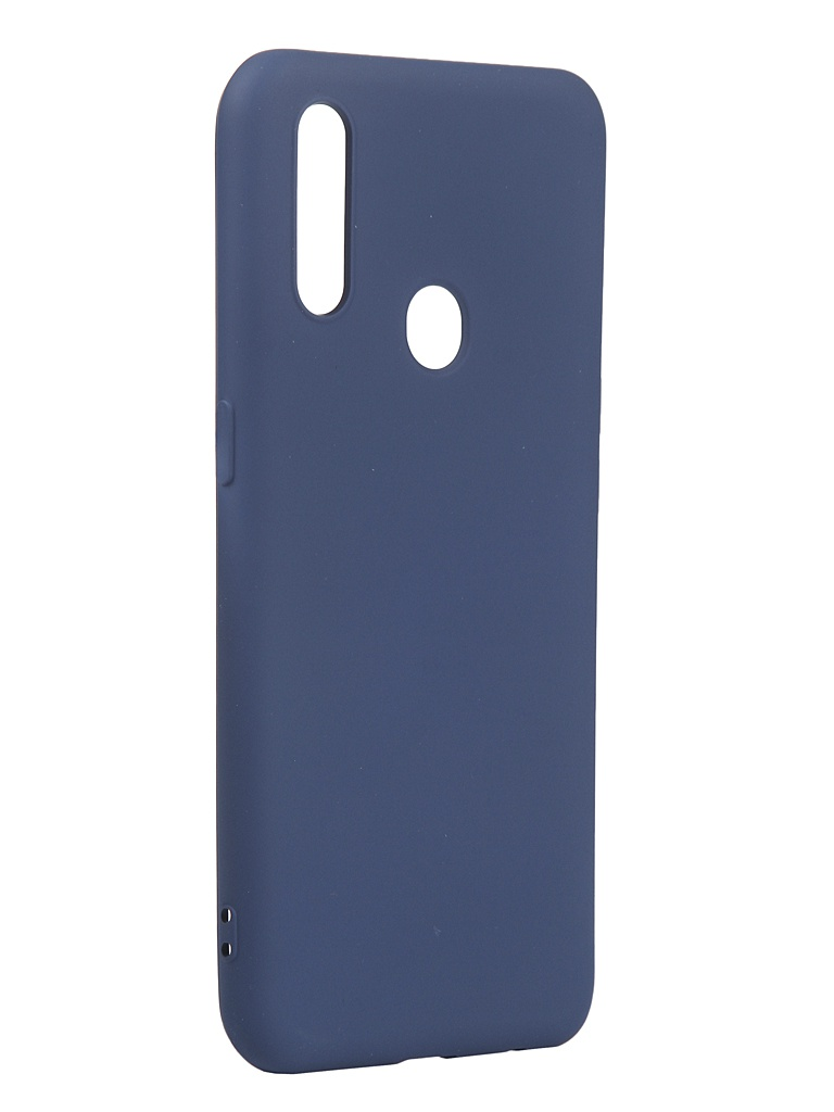 Чехол с микрофиброй DF для Oppo A31 Silicone Blue oOriginal-02