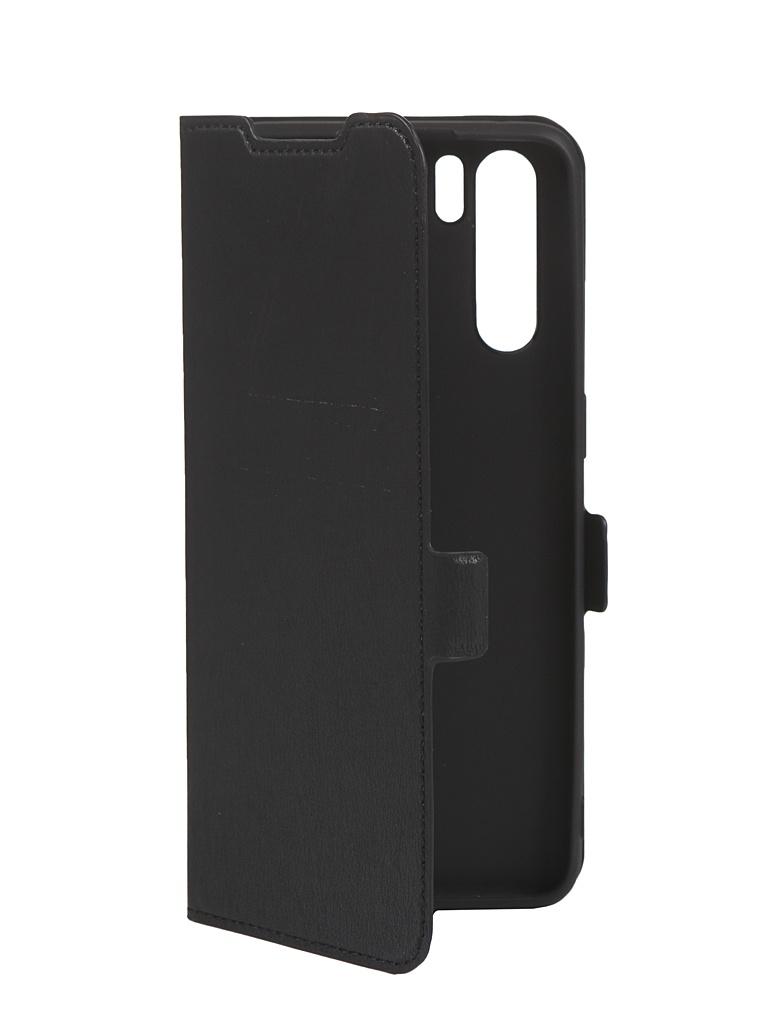 Чехол DF для Oppo Reno3 Black oFlip-06