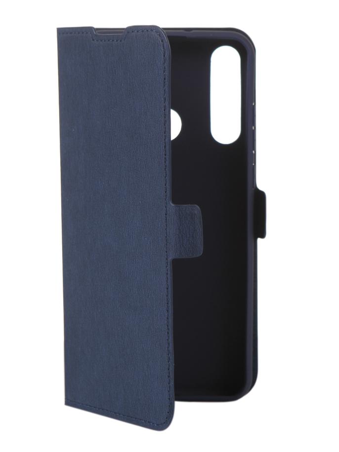 Чехол DF для Huawei Y6p Blue hwFlip-86