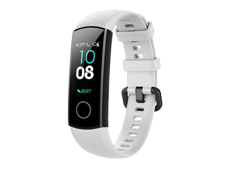 Aксессуар Ремешок DF для Honor Band 4/5 Silicone White hwClassicband-02