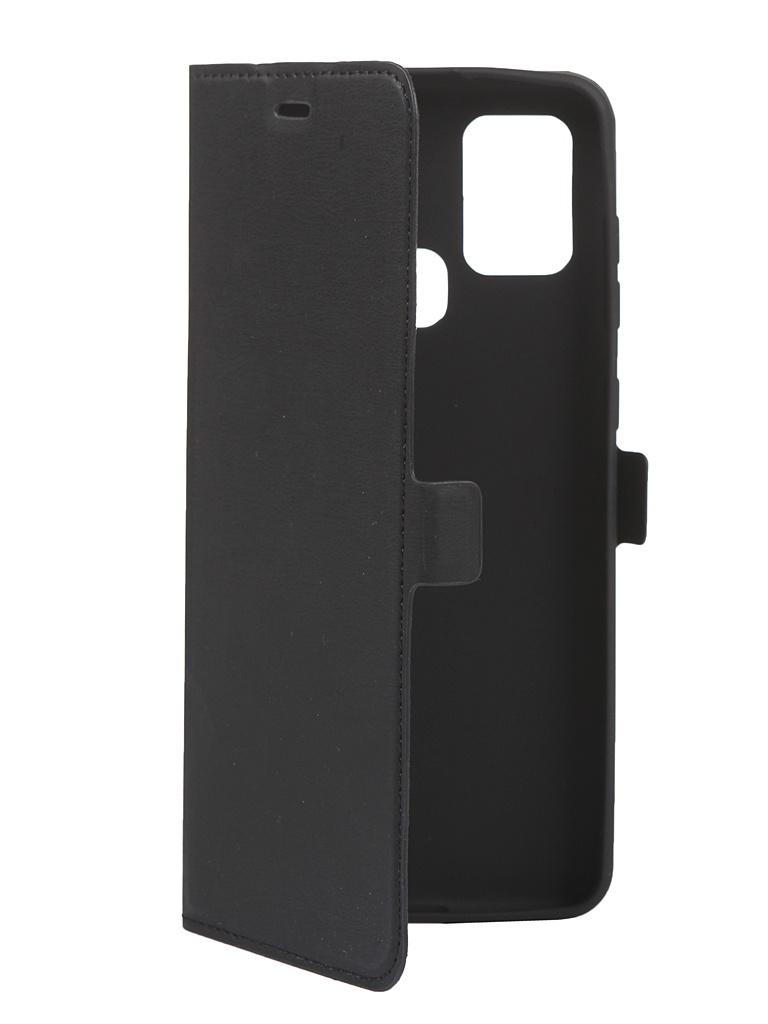 Чехол DF для Samsung Galaxy A21s Black sFlip-68