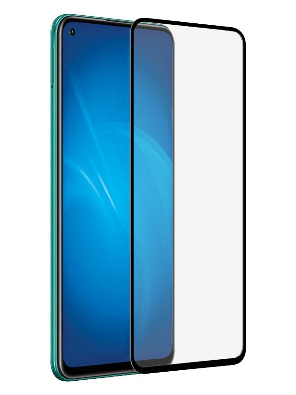 Закаленное стекло DF для Realme 6 Full Screen Glue Black Frame rmColor-09