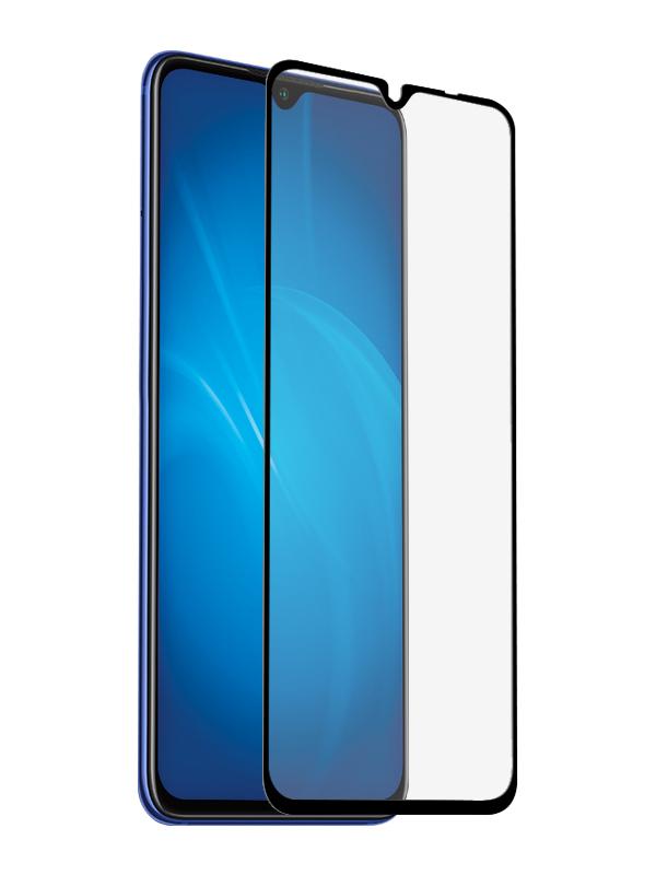 Закаленное стекло DF для Xiaomi Redmi 9 Full Screen Glue Black Frame xiColor-80