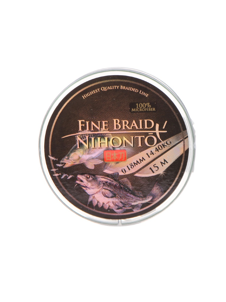 Леска Mikado Nihonto Fine Braid 0.18mm 15m Green Z21G-018