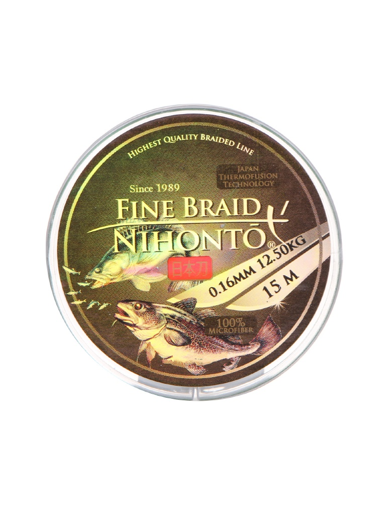 Леска Mikado Nihonto Fine Braid 0.16mm 15m Green Z21G-016