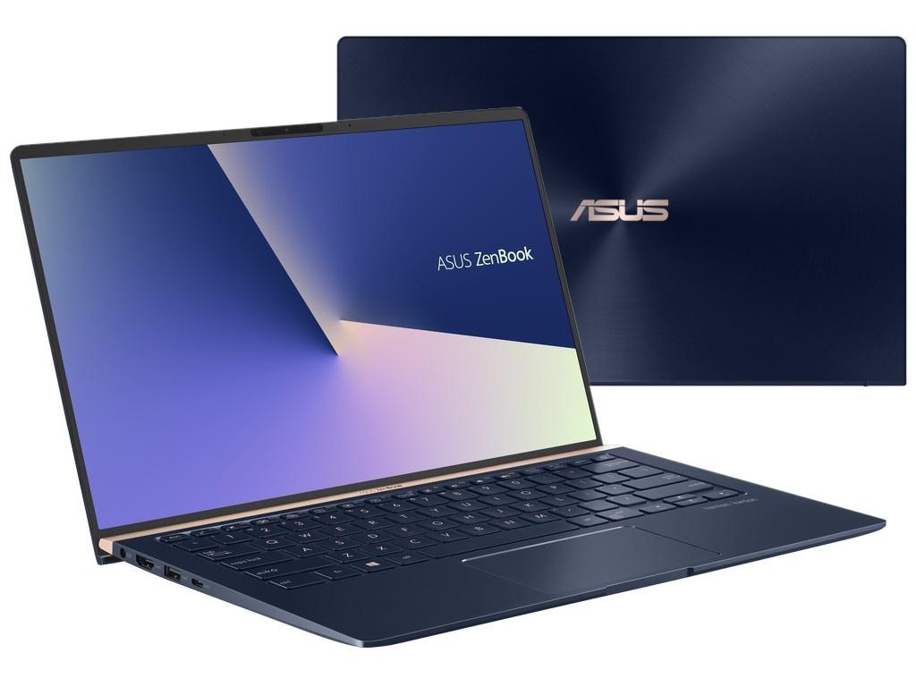 Ноутбук ASUS Zenbook UX433FLC-A5486T Blue 90NB0MP5-M11140 (Intel Core i7-10510U 1.8 GHz/16384Mb/1024Gb SSD/nVidia GeForce MX250 2048Mb/Wi-Fi/Bluetooth/Cam/14.0/1920x1080/Windows 10 Home 64-bit)