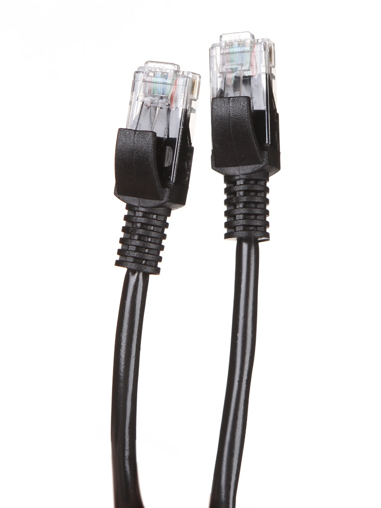 Сетевой кабель KS-is UTP cat.5e RJ45 1.0m Black KS-386-1