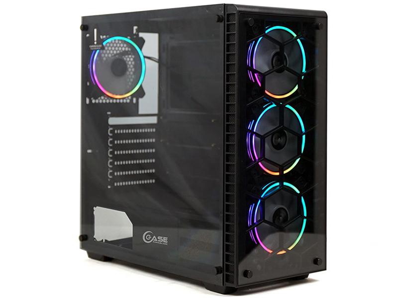 Корпус Powercase Attica G4 ARGB E-ATX Tempered Glass Black CAGB-A4 корпус powercase alisio x3 atx argb tempered glass white caxw f2a1