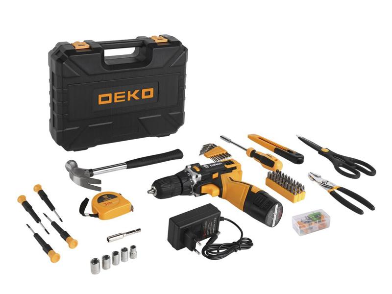 Электроинструмент Deko DKCD12FU-Li + набор 104 предмета 063-4112