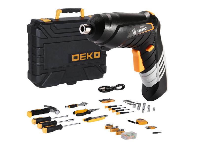 Отвертка Deko DKS4FU-Li + набор 112 предметов 063-4153
