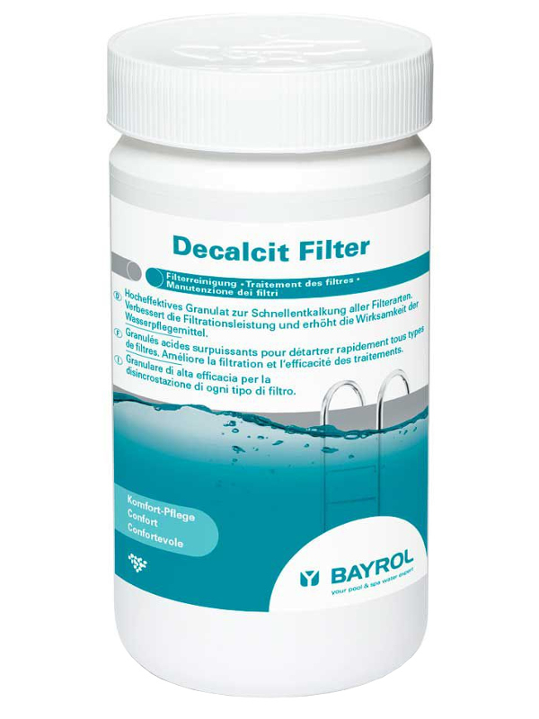 Гранулы для очистки оборудования от налёта Bayrol Decalcit Filter 1kg 4513111