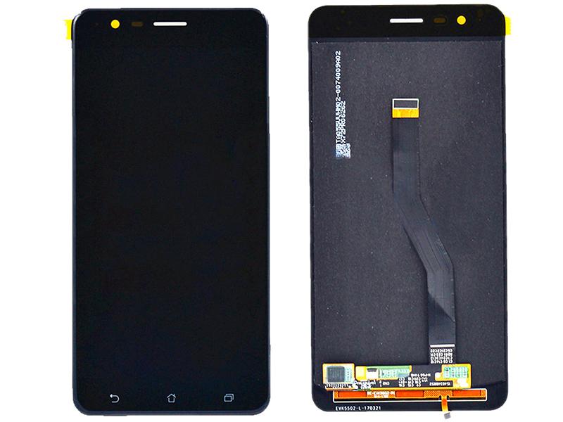 Дисплей RocknParts для ASUS ZenFone 3 Zoom ZE553KL в сборе с тачскрином Black 616495