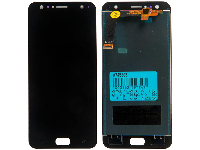 Дисплей RocknParts для ASUS ZenFone 4 Live ZB553KL в сборе с тачскрином Black 745605 дисплей rocknparts для asus zenfone 3 ze552kl в сборе с тачскрином white 745568