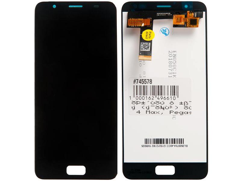 Дисплей RocknParts для ASUS ZenFone 4 Max / Pegasus 4A ZB500TL в сборе с тачскрином Black 745578