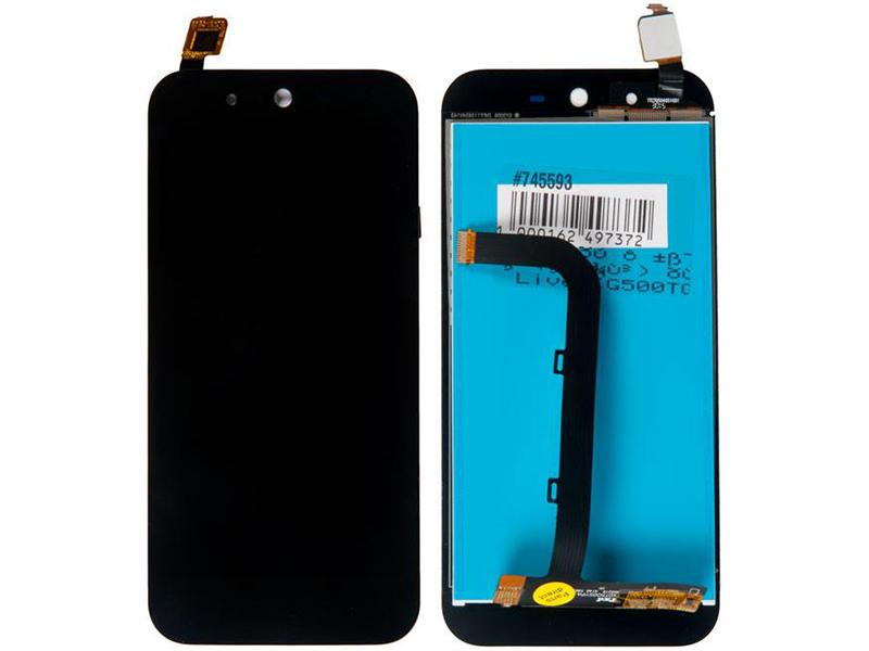 Дисплей RocknParts для ASUS ZenFone Live G500TG в сборе с тачскрином Black 745593 дисплей rocknparts для asus zenfone 3 ze552kl в сборе с тачскрином white 745568
