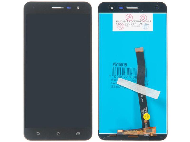 цена на Дисплей RocknParts для ASUS ZenFone 3 ZE552KL в сборе с тачскрином Black 515519
