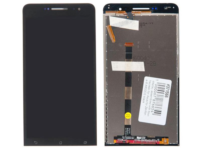 Дисплей RocknParts для ASUS ZenFone 6 A600CG в сборе с тачскрином Black 371566 дисплей rocknparts для asus zenfone 3 ze552kl в сборе с тачскрином white 745568