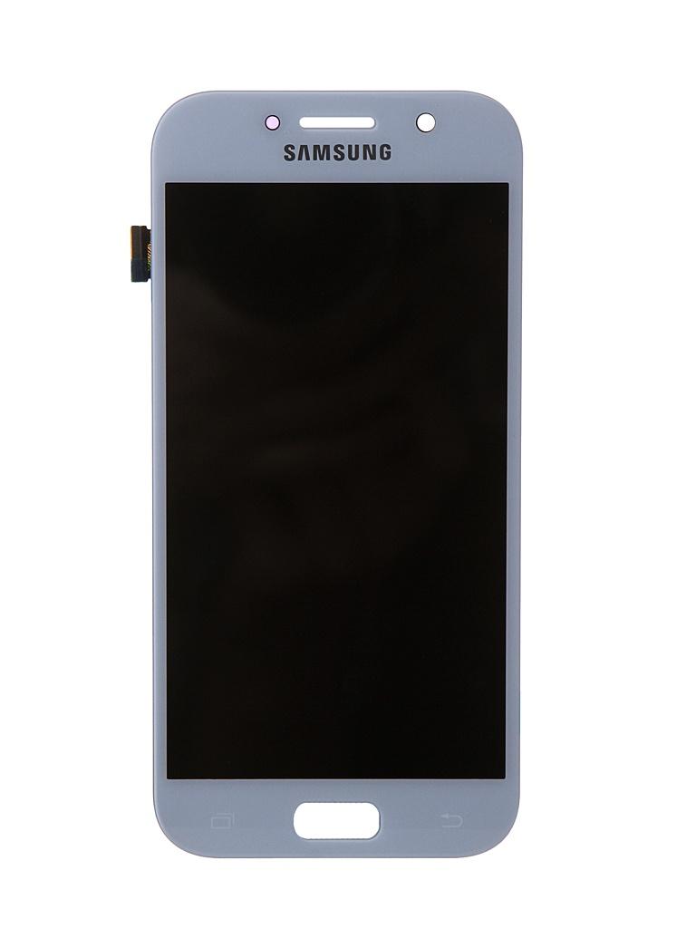 Дисплей RocknParts для Samsung Galaxy A5 SM-A520F (2017) Oled в сборе с тачскрином Light Blue 743369