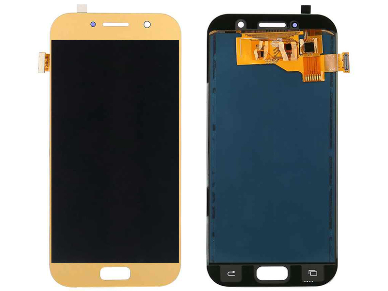 Дисплей RocknParts для Samsung Galaxy A5 SM-A520F (2017) Oled в сборе с тачскрином Gold 743370
