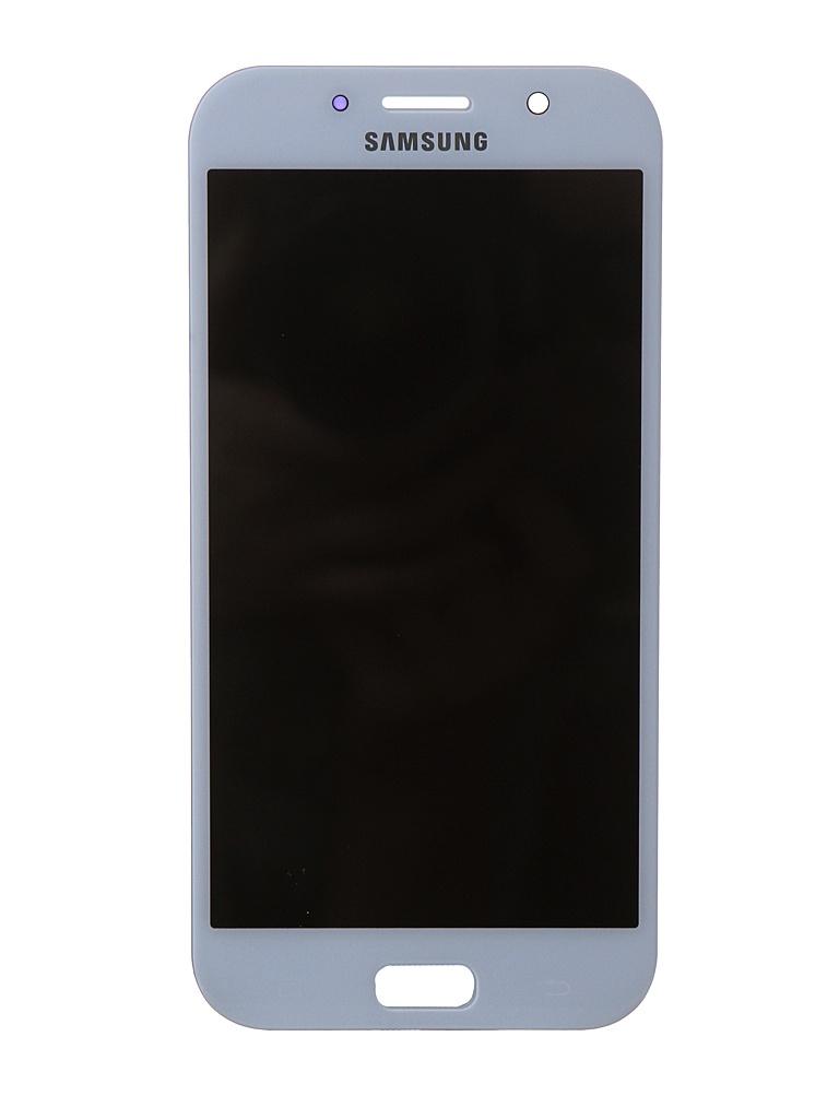 Дисплей RocknParts для Samsung Galaxy A7 SM-A720F (2017) Oled в сборе с тачскрином Light Blue 743373
