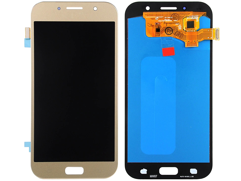 Дисплей RocknParts для Samsung Galaxy A7 SM-A720F (2017) Oled в сборе с тачскрином Gold 743374