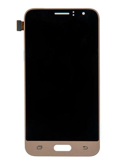Дисплей RocknParts для Samsung Galaxy J1 SM-J120F (2016) Oled в сборе с тачскрином Gold 743381