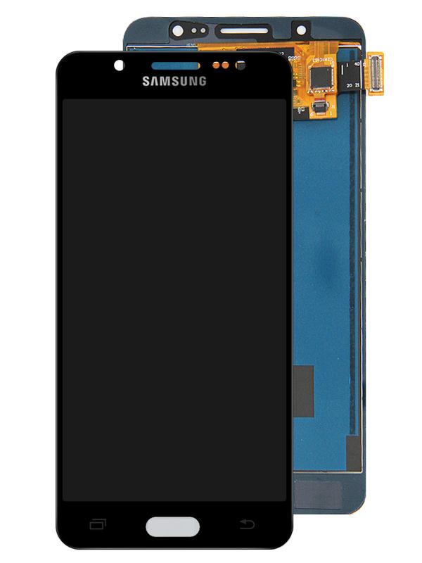 Дисплей RocknParts для Samsung Galaxy J5 SM-J510F (2016) Oled в сборе с тачскрином Black 743385