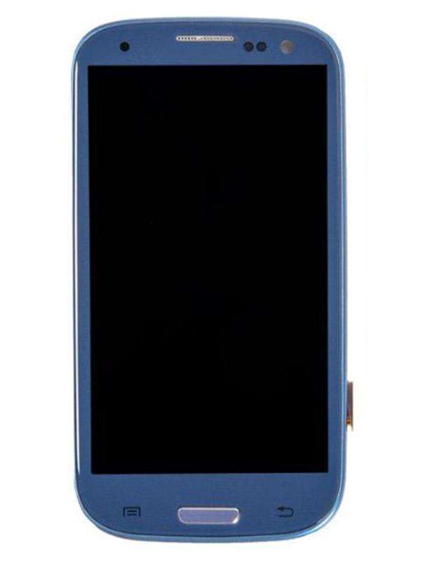 Дисплей RocknParts для Samsung Galaxy S3 GT-I9305 AAA в сборе с тачскрином и передней панелью Blue 690995